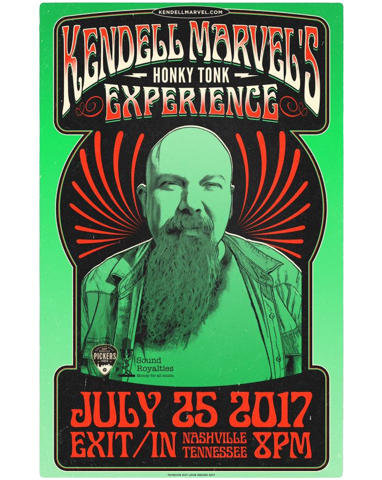 Kendell Marvell's Honky Tonky Experience at Exit/In - Nashville, TN July 25th, 2017